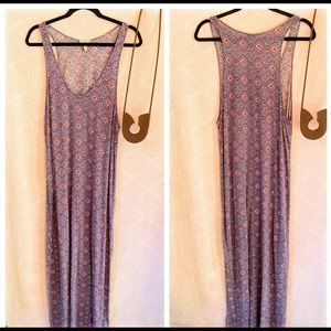 Joie Printed Rayon Maxi Dress Large